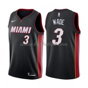 Miami Heat Basketball Trøjer 2018 Dwyane Wade 3# Icon Edition..