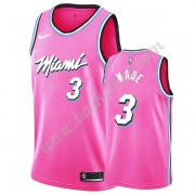 Miami Heat Basketball Trøjer NBA 2019-20 Dwyane Wade 3# Lyserød Earned Edition Swingman..