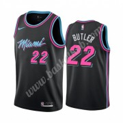Miami Heat Basketball Trøjer NBA 2019-20 Jimmy Butler 22# Sort City Edition Swingman..