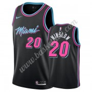 Miami Heat Basketball Trøjer NBA 2019-20 Justise Winslow 20# Sort City Edition Swingman..