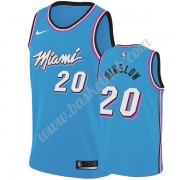 Miami Heat Basketball Trøjer NBA 2019-20 Justise Winslow 20# Blå City Edition Swingman..