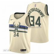 NBA Basketball Trøje Børn Milwaukee Bucks 2018 Giannis Antetokounmpo 34# City Edition..