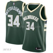NBA Basketball Trøje Børn Milwaukee Bucks 2018 Giannis Antetokounmpo 34# Icon Edition..