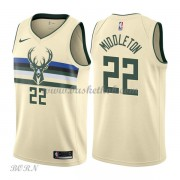 NBA Basketball Trøje Børn Milwaukee Bucks 2018 Khris Middleton 22# City Edition..