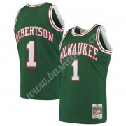 Milwaukee Bucks Basketball Trøjer NBA 1971-72 Oscar Robertson 1# Grøn Hardwood Classics Swingman..
