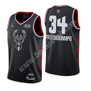 Milwaukee Bucks 2019 Giannis Antetokounmpo 34# Sort All Star Game Swingman Basketball Trøjer..