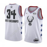 Milwaukee Bucks 2019 Giannis Antetokounmpo 34# Hvid All Star Game Swingman Basketball Trøjer..