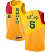 Milwaukee Bucks Basketball Trøjer NBA 2019-20 Eric Bledsoe 6# Gul City Edition Swingman..
