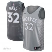 NBA Basketball Trøje Børn Minnesota Timberwolves 2018 Karl Anthony Towns 32# City Edition..