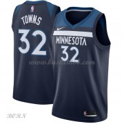 NBA Basketball Trøje Børn Minnesota Timberwolves 2018 Karl Anthony Towns 32# Icon Edition..
