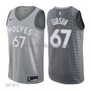 NBA Basketball Trøje Børn Minnesota Timberwolves 2018 Taj Gibson 67# City Edition..