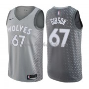 Minnesota Timberwolves Basketball Trøjer 2018 Taj Gibson 67# City Edition..
