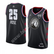 Minnesota Timberwolves 2019 Derrick Rose 25# Sort All Star Game Swingman Basketball Trøjer..