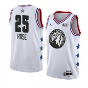 Minnesota Timberwolves 2019 Derrick Rose 25# Hvid All Star Game Swingman Basketball Trøjer..