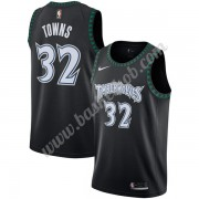 Minnesota Timberwolves Basketball Trøjer NBA 2019-20 Karl-Anthony Towns 32# Sort Hardwood Classics S..
