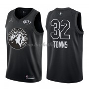 Minnesota Timberwolves Karl-Anthony Towns 32# Sort 2018 All Star Game Swingman Basketball Trøjer..