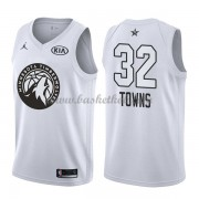 Minnesota Timberwolves Karl-Anthony Towns 32# Hvid 2018 All Star Game Swingman Basketball Trøjer..