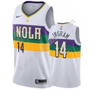 New Orleans Pelicans Basketball Trøjer NBA 2019-20 Brandon Ingram 14# Hvid City Edition Swingman..