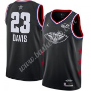 New Orleans Pelicans Basketball Trøjer NBA 2019 Anthony Davis 23# Sort Finished All-Star Game Swingm..