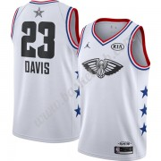 New Orleans Pelicans Basketball Trøjer NBA 2019 Anthony Davis 23# Hvid Finished All-Star Game Swingm..