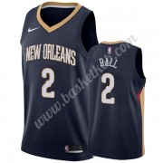New Orleans Pelicans Basketball Trøjer NBA 2019-20 Lonzo Ball 2# Marine blå Icon Edition Swingman..