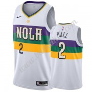 New Orleans Pelicans Basketball Trøjer NBA 2019-20 Lonzo Ball 2# Hvid City Edition Swingman..