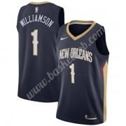New Orleans Pelicans Basketball Trøjer NBA 2019-20 Zion Williamson 1# Marine blå Icon Edition Swingm..
