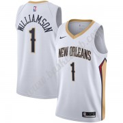 New Orleans Pelicans Basketball Trøjer NBA 2019-20 Zion Williamson 1# Hvid Association Edition Swing..