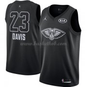New Orleans Pelicans Anthony Davis 23# Sort 2018 All Star Game Swingman Basketball Trøjer..