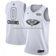 New Orleans Pelicans DeMarcus Cousins 0# Hvid 2018 All Star Game Swingman Basketball Trøjer..