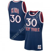 New York Knicks Basketball Trøjer NBA 1982-83 Bernard King 30# Marine blå Hardwood Classics Swingman..