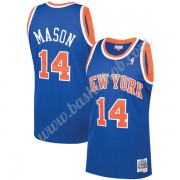 New York Knicks Basketball Trøjer NBA 1991-92 Anthony Mason 14# Blå Hardwood Classics Swingman..
