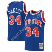 New York Knicks Basketball Trøjer NBA 1991-92 Charles Oakley 34# Blå Hardwood Classics Swingman..