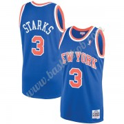 New York Knicks Basketball Trøjer NBA 1991-92 John Starks 3# Blå Hardwood Classics Swingman..