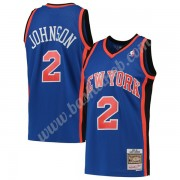 New York Knicks Basketball Trøjer NBA 1998-99 Larry Johnson 2# Blå Hardwood Classics Swingman..