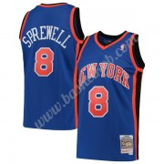 New York Knicks Basketball Trøjer NBA 1998-99 Latrell Sprewell 8# Blå Hardwood Classics Swingman..