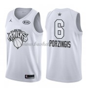 New York Knicks Kristaps Porzingis 6# Hvid 2018 All Star Game Swingman Basketball Trøjer..