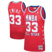 New York Knicks Patrick Ewing 33# Red 1989 All Star Hardwood Classics Swingman Basketball Trøjer..
