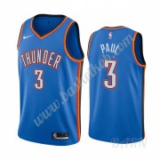 Billige Basketball Trøje Børn Oklahoma City Thunder 2019-20 Chris Paul 3# Blå Icon City Edition Swin..