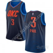 Billige Basketball Trøje Børn Oklahoma City Thunder 2019-20 Chris Paul 3# Blå Statement Edition Swin..