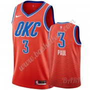 Billige Basketball Trøje Børn Oklahoma City Thunder 2019-20 Chris Paul 3# Orange Statement Edition S..