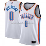 Oklahoma City Thunder Basketball Trøjer 2018 Russell Westbrook 0# Association Edition..