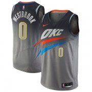 Oklahoma City Thunder Basketball Trøjer 2018 Russell Westbrook 0# City Edition..