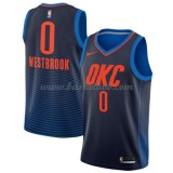 Oklahoma City Thunder Basketball Trøjer 2018 Russell Westbrook 0# Statement Edition