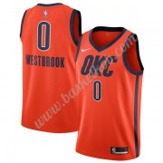 Oklahoma City Thunder Basketball Trøjer NBA 2019-20 Russell Westbrook 0# Orange Earned Edition Swing..