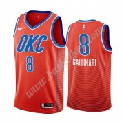 Oklahoma City Thunder Basketball Trøjer NBA 2019-20 Danilo Gallinari 8# Orange Statement Edition Swi..