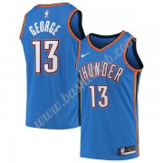 Oklahoma City Thunder Basketball Trøjer NBA 2019-20 Paul George 13# Blå Icon Edition Swingman..