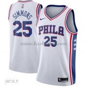 NBA Basketball Trøje Børn Philadelphia 76ers 2018 Ben Simmons 25# Association Edition..