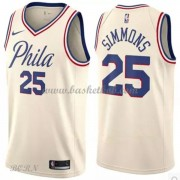 NBA Basketball Trøje Børn Philadelphia 76ers 2018 Ben Simmons 25# City Edition..