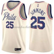 Philadelphia 76ers Basketball Trøjer 2018 Ben Simmons 25# City Edition..
